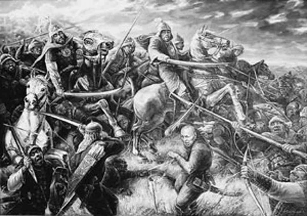 свою эпоха борьбы кыргызов против джунгарских захватчиков выбрали